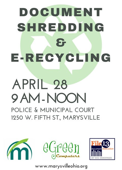 Marysville Document Shredding and E-Recycling Day